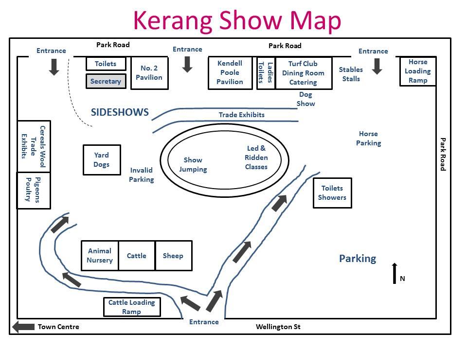 Kerang Show Map 2016